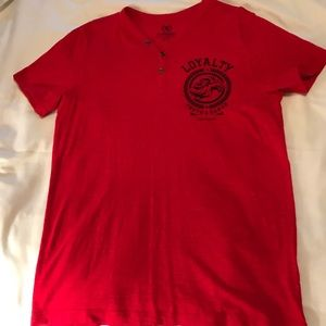 Men's Express Tee Shirt Loyalty Red Size M